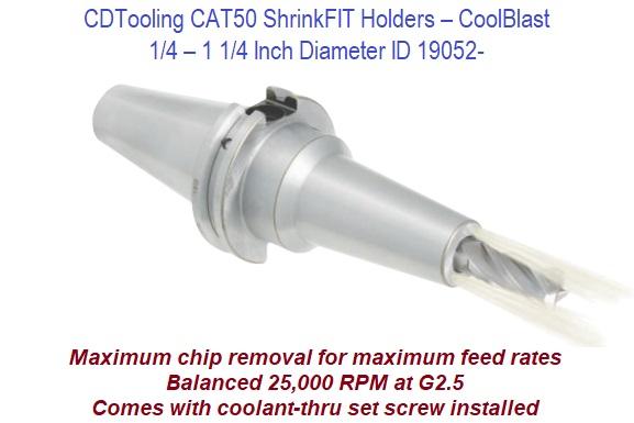 Techniks 18mm CAT50 ShrinkFIT Holder x 100mm Length