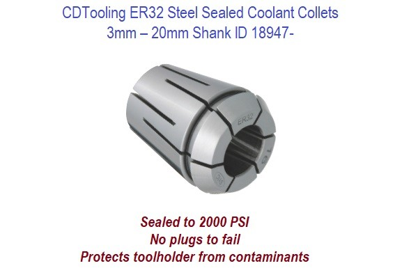"""NEW-IN-BOX ER32 COLLET 1//8 INCH .0002/"""" ACCURACY CHEAPEST USA SUPPLIER !! NEW"""