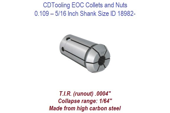 EOC08 Collets - 0.109 - 5/16 Inch Shank Size ID 18982-