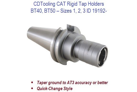 CAT40 CAT50 - Rigid Tap Holders - Sizes 1 2 3 ID 19192-