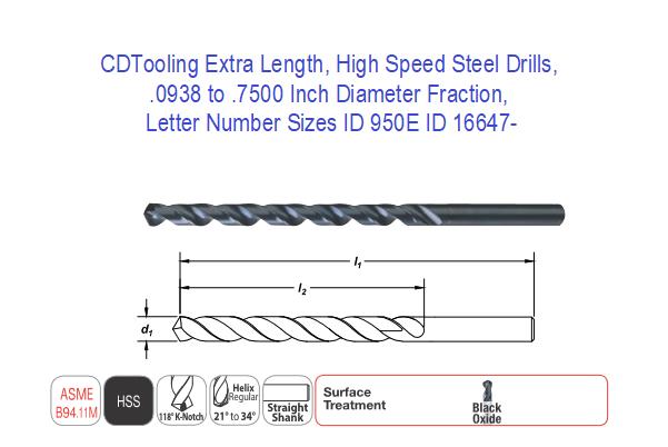 "HSS Taper Length Drill USA 17//32/"" .5312/"""