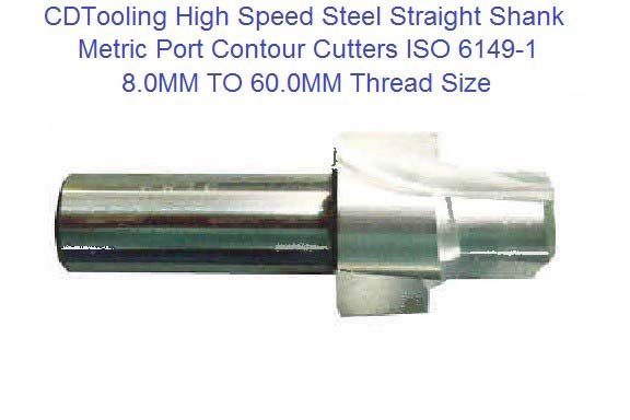 Port Contour Cutter High Speed Steel ISO 6149-1 Straight Shank