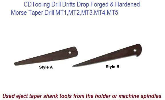 Morse Taper Drill Drifts to Eject Taper Shank Drills & Tools MT1, MT2, MT3, MT4, MT5 ID 6669-