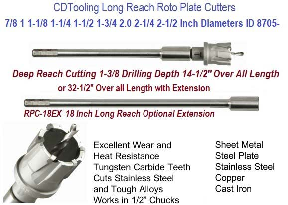 Roto Plate Cutter Individual Sizes 7/8 1.0 1-1/8 1-1/4 1-1/2 1-3/4 2 2-1/4 2-1/2 Inch Diameters ID 8705-