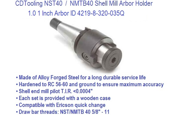 """NMTB 40 1.0/"""" End Mill Holder"""