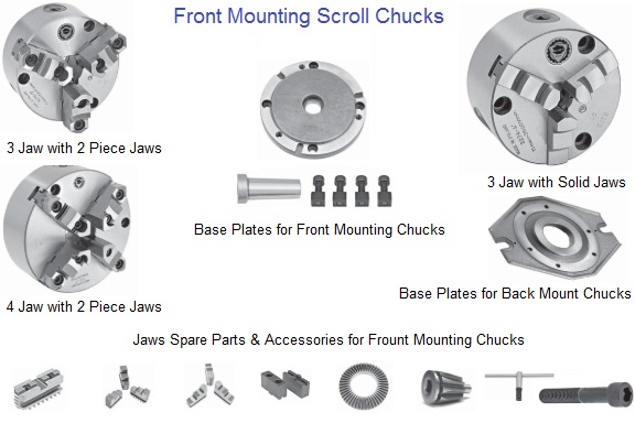 3-Jaw Power Chuck 5in Plain Back