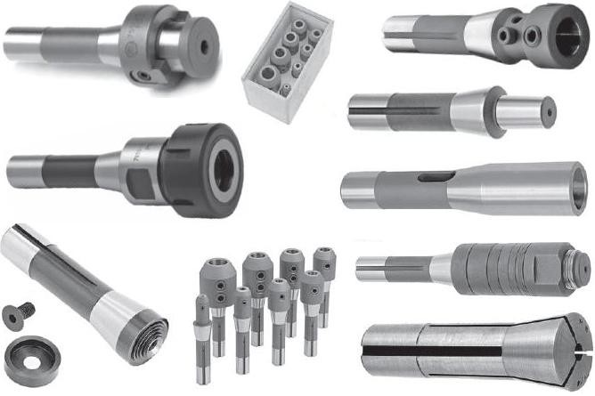 R8 End Mill Holders Tooling Adapters, Collets