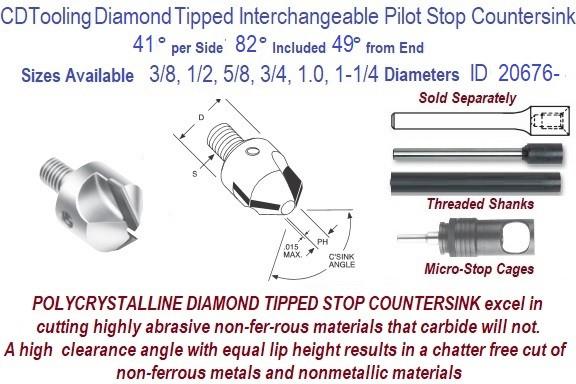 "3//16 82° 6 Flute Solid Carbide Single End Countersink 3//16/"" Shank 2/"" OAL USA"