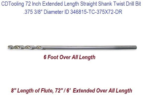 Precision Twist C Taper Length Drill 118 Deg HSS L 6 1//8 Flute 3 3//4