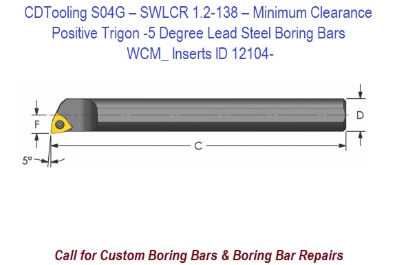 ULTRA-DEX USA S04G SWLCR1.2 Boring Bar,S04G SWLCR1.2