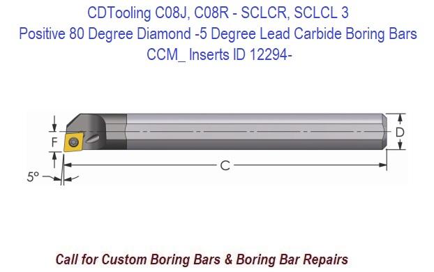 """4 1//2/"""" OAL NEW 5//16/"""" CARBIDE BORING BAR C-SCLCR 5-24"""