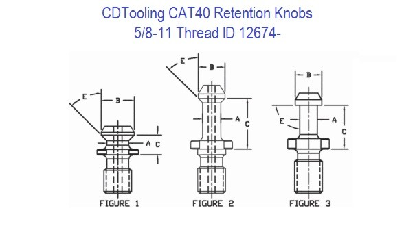 CAT40 5/8-11 Retention Knobs ID 12674-