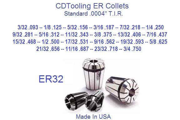 """13PCS ER32 1//16/""""-13//16/"""" Collets Set With5//32 9//32 23//32 Super Precision"""
