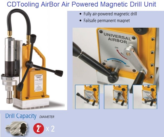 Magnetic Drill Unit Air Powered Pneumatic Portable Drill for Annular Cutters 2