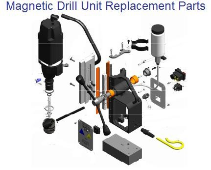 Magnetic Drill Replacement and Repair Parts