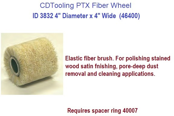 4 Inch Diameter PTX Fiber Wheel Drum Brush 4 Inch Wide PTX Linear Finishing ID 3832-46400
