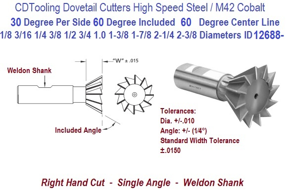 F/&D Tool Company 11744 Straight Tooth Full Radius Side Milling Cutter 1//2 Width 3 Diameter 1 ID Cobalt