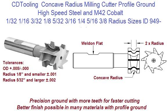 HHIP M42 Cobalt 2 Flute Double End Center Cut End Mill Various Mill Diameter: 1//8-1//2 1//8 Mill Dia