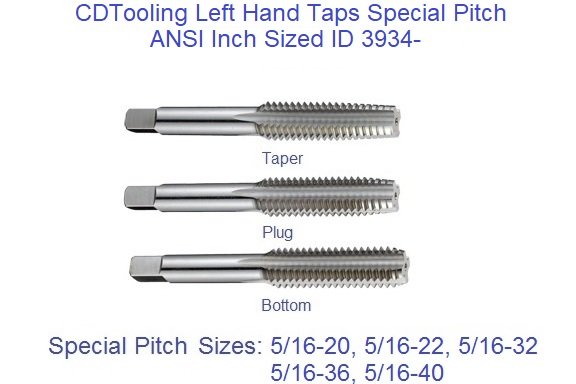5-44 HIGH Speed Steel Left Hand Plug TAP