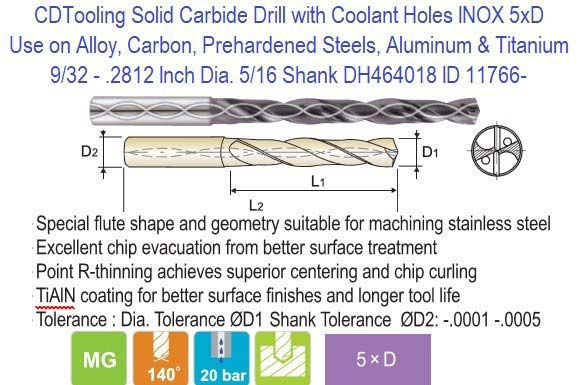 .2812 HSS Drill Blank 9//32 2 Pieces.