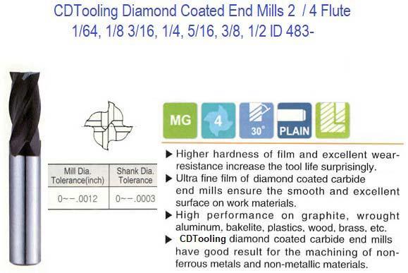 "5 New 1//64/"" 4 Flute Solid Carbide Endmills USA"