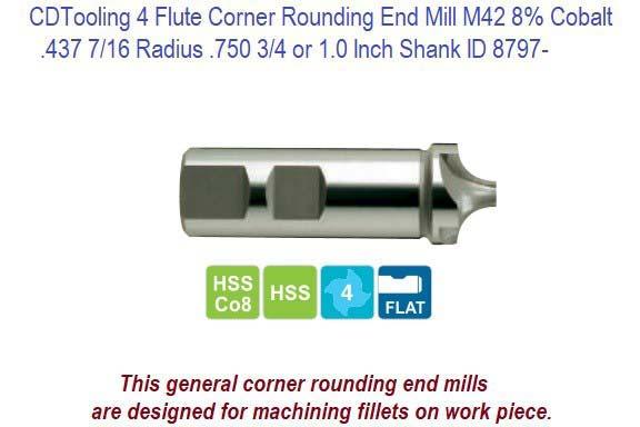 "3//8/"" Radius Shank Type Concave Cutter High Speed Steel Toolmex #5-693-045"