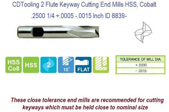 "END MILL M42 Co8 Cobalt 4 Flute SQUARE INCH STANDARD LENGTH 3//8/"""
