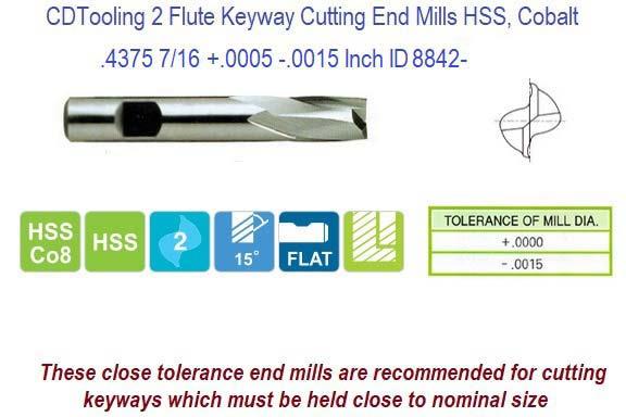 HHIP 2 Flute M42 Cobalt Single End Ball End Mills Various Sizes: 1//8-1