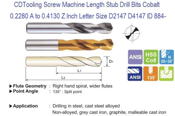 3.70 mm Drill Bit Size OSS18884 Seco 18884 Screw Machine Length Drill Bits SD203
