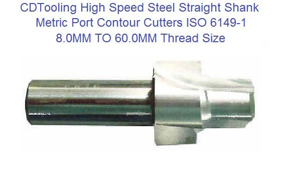 Port Contour Cutter High Speed Steel ISO 6149-1 Straight Shank