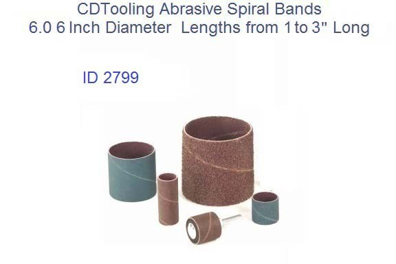 Abrasive Spiral Bands 6.0 6 Inch Diameter from 1 to 9