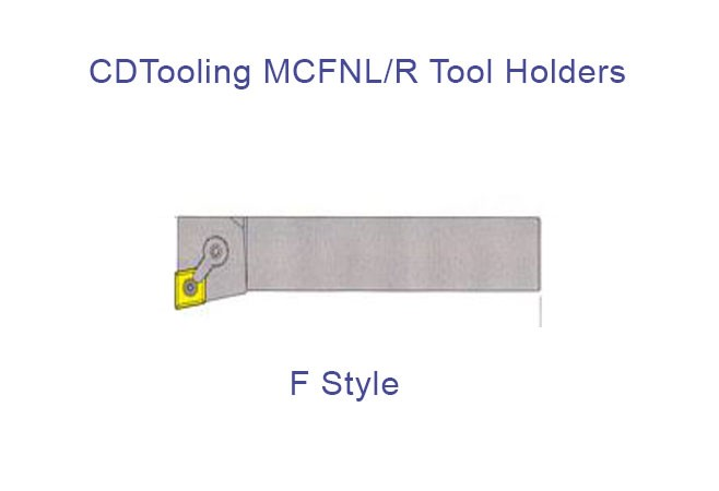 MCFNL/R 12-4B - Tool Holder - Style F-0 Deg  End Cutting Edge Angle For Negative 80 DEG Diamond CNM Inserts, Left and Right Hand - ID: 901-MCFNL/R 12-4B