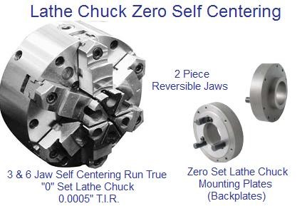 "Lathe Chuck 3 and 6 Jaw Self Centering Lathe Chuck Zero Set  6-12"" CDTooling Value Line"