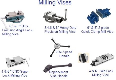 Vises: Milling Vise Angle Lock, Swivel Base Milling Vise, Quick Clamp