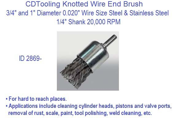 Straight Knot Type End Brush 3 4 And 1 Diameters X 1 4