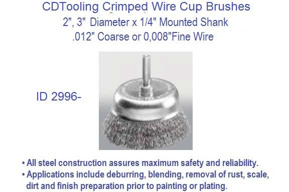 Wire cup brushes 2 3 inch diameter 14 mounted shank 008 or 012 crimped wire cup brushes 2 3 inch diameter 14 mounted shank 008 or 012 wire size 20 pack id 2996 greentooth Image collections