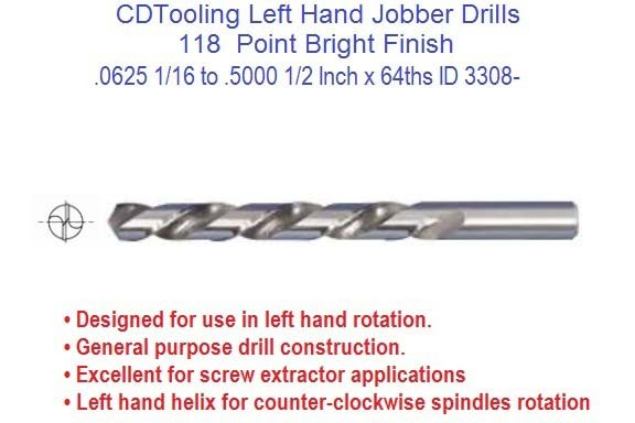 Left hand drill bit jobber length 116 to 12 inch diameter left hand drill bit jobber length 116 to 12 inch diameter fractional sizes id 3308 keyboard keysfo Image collections
