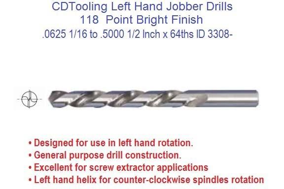 Left hand drill bit jobber length 116 to 12 inch diameter left hand drill bit jobber length 116 to 12 inch diameter fractional sizes id 3308 keyboard keysfo Choice Image