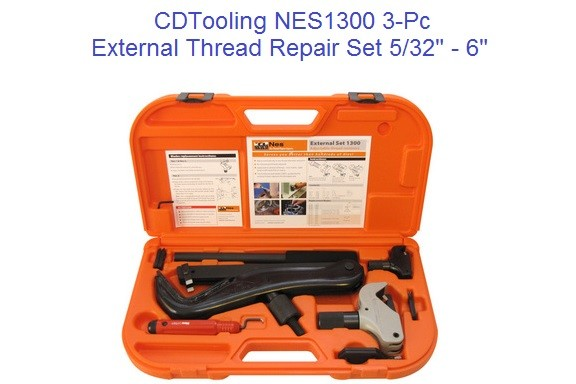 NES1300 3-Pc External Thread Repair Set 5/32 to 6 Inch, M4-M152 Metric ID 2170-
