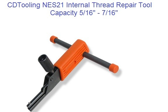 NES21 Internal Thread Repair Tool 5/16 to 7/16 Inch, M8 to M11 Metric ID 2173-