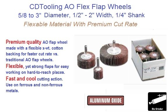 Abrasive Flap Wheel AO-Flex 1/4 Shank 5/8 to 3