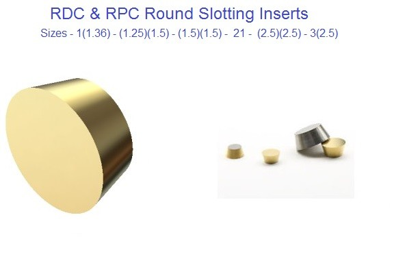 RDC, RPC, Round Carbide Inserts
