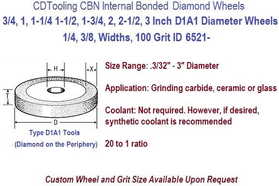 D1a1 Internal Bond Diamond Resin Bond Grinding Wheels 3 4