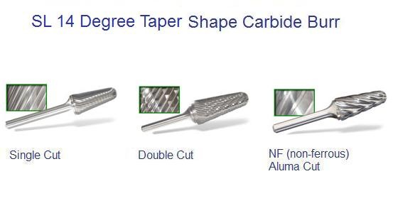 SL -Taper Shape - Radius Carbide Burr ID 1687-