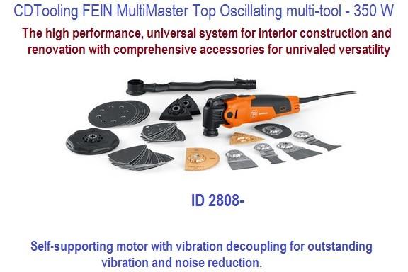 Fein Multimaster Top Oscillating Multi Tool Complete Kit 350 W Id
