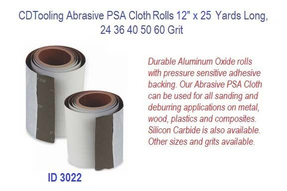Abrasive PSA Cloth Rolls 12