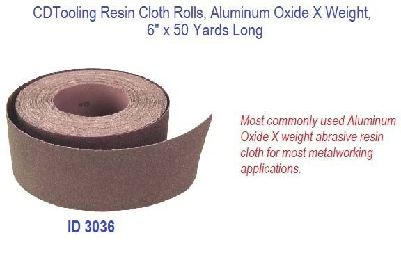 Resin Cloth Rolls, Aluminum Oxide X Weight, 6