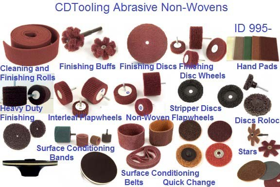 Surface conditioning abrasives, Non Woven, Unitized Wheels, Discs, Pads, Stars ID 995-
