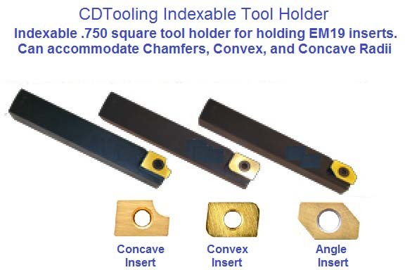 Indexable Carbide Insert Turning Holder Convex Corner Round Concave Angle Cutting