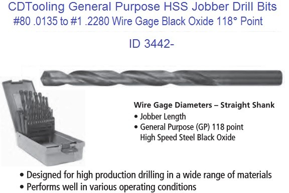 Gage numbers sizes 1 to 80 jobber drill bits general purpose id 3442 wire gage numbers sizes 1 to 80 jobber drill bits general purpose id 3442 greentooth Image collections